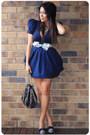 Navy-asos-dress-black-hong-kong-boutique-bag-silver-ebay-belt-silver-forev