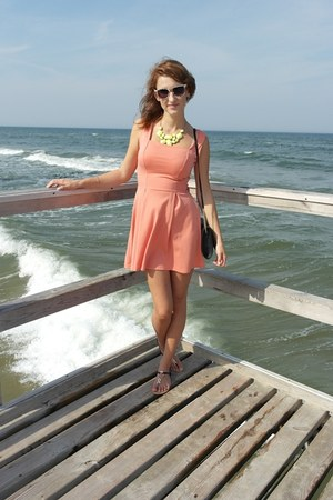 light orange dress