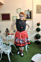 red polka dots Secret Angel skirt - black polka dots H&M shirt