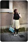 Black-h-m-blouse-beige-vintage-skirt-white-vintage-shoes-red-h-m-sunglasse