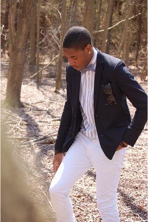 blue BDG blazer - white Express shirt - blue American Apparel tie - white Levis