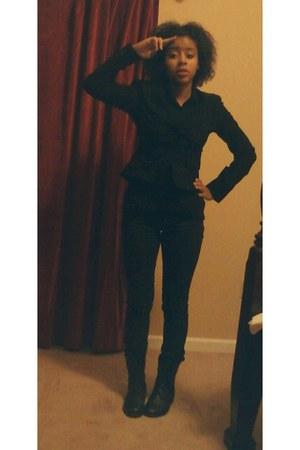 black Charlotte Russe boots - black fit black Jcpennys blazer