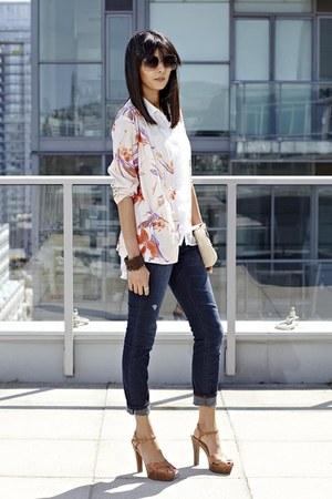 always skinny the gap jeans - floral Black Market vintage jacket