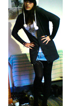 new look - Topshop vest - Ebay skirt - Accessorize hat