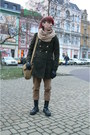 Black-pure-trash-boots-dark-green-c-a-coat-tan-thrifted-jeans