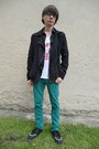 Black-tuk-boots-turquoise-blue-new-yorker-jeans-black-gate-jacket