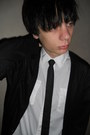 Black-denim-co-jeans-white-new-yorker-shirt-black-dorothy-perkins-cardigan