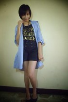 blouse - hotkiss shirt - shorts - Figlia flats