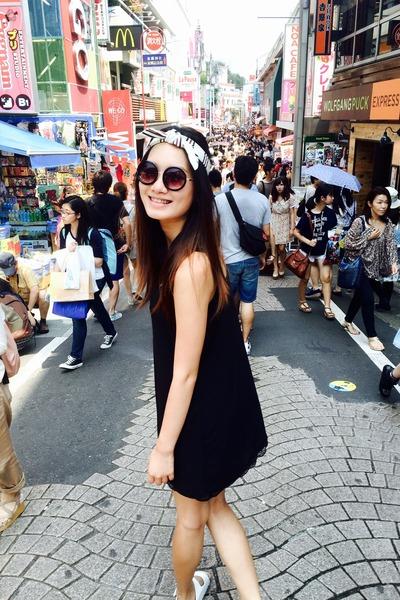 white accessories - black Forever 21 dress - black Monki sunglasses