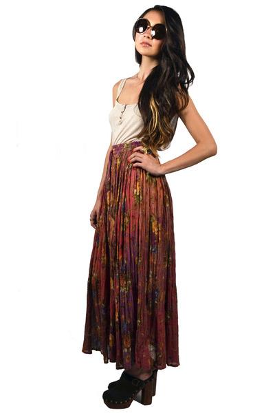 pink maxi skirt Saltwater Gypsy Vintage skirt
