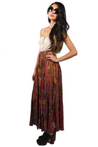 pink maxi skirt Saltwater Gypsy Vintage skirt
