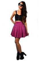 Hot-pink-suede-skirt-saltwater-gypsy-vintage-skirt