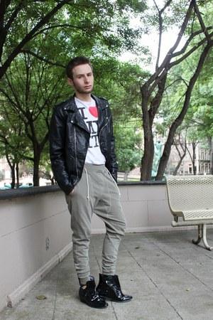 black Zara jacket - silver Zara pants