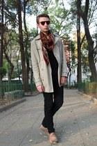camel Zara coat - American Apparel sunglasses