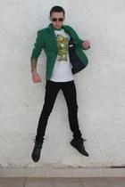 chartreuse Zara blazer