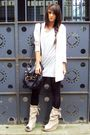 Beige-zara-boots-beige-h-m-blazer-black-topshop-accessories-gray-h-m-t-shi