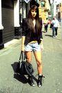 Black-topshop-jacket-blue-h7m-shorts-black-topshop-boots-black-miu-miu-acc