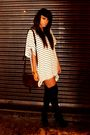 White-h-m-dress-black-aa-socks-brown-vintage-accessories-black-boohoocom-b