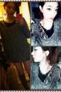 Dark-brown-love-baby-twins-boots-heather-gray-zara-sweater