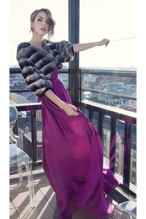 plein sud dress - chinchilla Carlo Ramello jacket