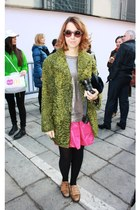 Lady Fur skirt - persian fur Carlo Ramello coat - turtle sunglasses