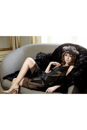 fur Kopenhagen fur accessories - sheer Cristiano Burani dress