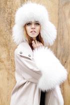 fur ALBINO coat - fur Chanel hat - Prada heels
