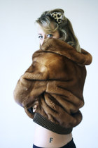 mink Carlo Ramello jacket - fur cat ears Samantha De Reviziis accessories