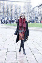 red printed roberto cavalli dress - black ALBINO coat