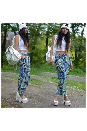 white vest - white pants