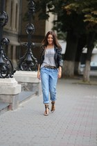 H&M jeans - Bershka jacket - Vero Moda top - Romwecom belt