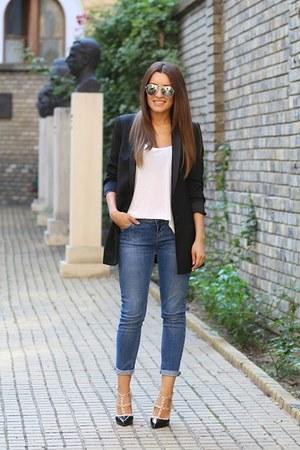 Zara blazer - Zara jeans - Martofchina heels