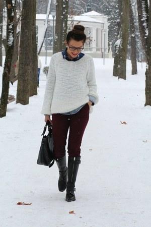 Sheinsidecom sweater - Hobbs boots - Zara pants