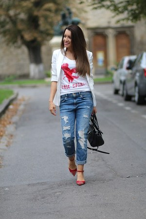 Zara shoes - Zara jeans - Topshop blazer