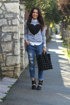 chicnova blouse - chicnova bag - choiescom heels