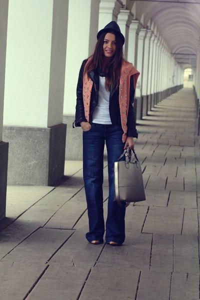 kurtmannro jeans - kurtmannro hat - Sheinsidecom jacket - kurtmannro blouse