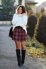 Choiescom-boots-sheinsidecom-sweater-new-yorker-skirt