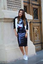 Zara skirt - Amisu jacket - choiescom t-shirt