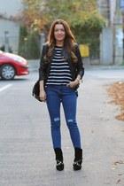 Sheinsidecom jacket - choiescom jeans - MeliMelo bag