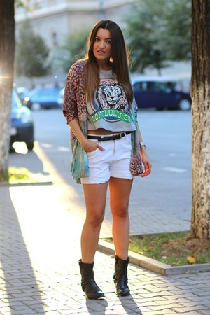 chicnova shorts - Zara blazer - chicnova t-shirt