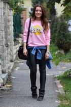 Romwecom sweater - Zara bag - choiescom pants