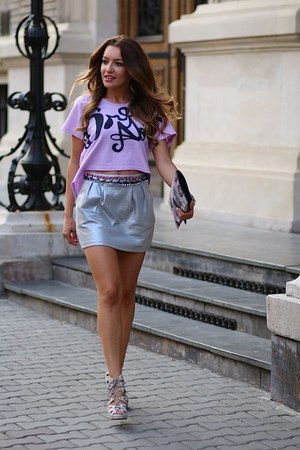 kurtmannro skirt - La Muse Chic bag - old sandals