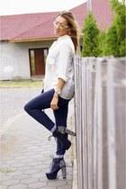 Jeffrey Campbell boots - Zara shirt