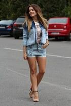 Pull & Bear shirt - Romwecom shorts - Zara heels
