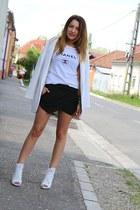 Zara blazer - Zara shorts - Zara heels