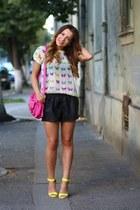 Zara shirt - Vero Moda shorts - Stradivarius heels
