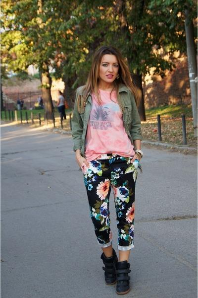 Bershka sneakers - H&M pants