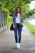 Zara jeans - Zara blazer - H&M bag - Zara heels