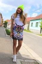 romwe skirt - Celine t-shirt