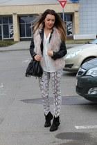 Zara shirt - Zara vest - H&M pants